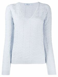 Blumarine textured jumper - Blue