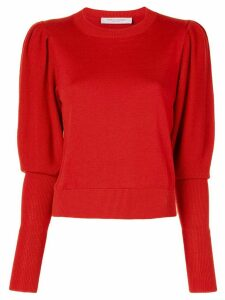 Carolina Herrera elongated cuffs sweater - Red