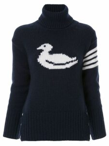 Thom Browne duck intarsia cashmere pullover - Blue