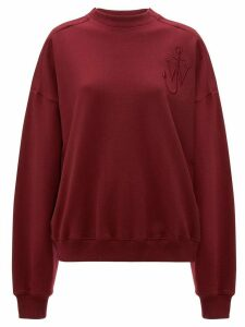 JW Anderson oversized shoulder placket sweatshirt - Purple