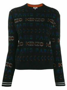 Kenzo all-over logo jumper - Black