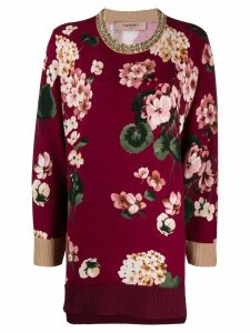 Twin-Set floral intarsia jumper - PURPLE
