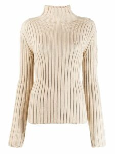 Chloé ribbed roll neck jumper - Brown
