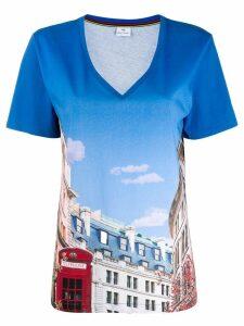 PS Paul Smith telephone box print T-shirt - Blue