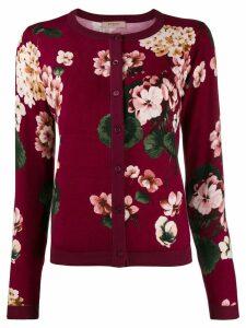Twin-Set floral intarsia cardigan - Purple