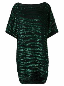 P.A.R.O.S.H. sequin zebra T-shirt dress - Green