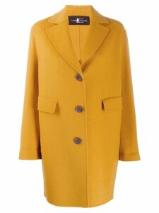 Luisa Cerano classic single-breasted coat - Yellow