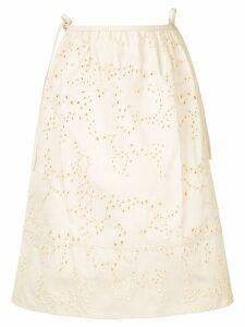 Jil Sander perforated details skirt - NEUTRALS