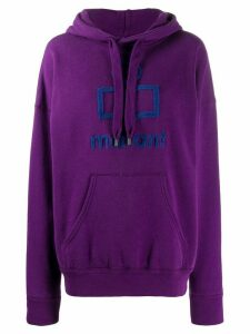 Isabel Marant Étoile logo patch hoodie - Purple