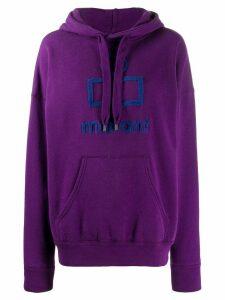 Isabel Marant Étoile logo patch hoodie - Purple
