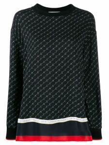 Stella McCartney logo print blouse - Black