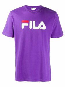 Fila logo print T-Shirt - PURPLE
