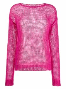 Prada ribbed crew neck knitted top - PINK