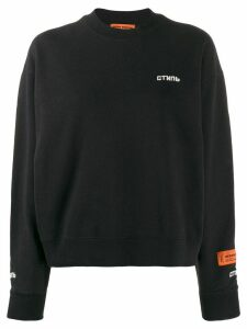 Heron Preston logo embroidered sweatshirt - Black