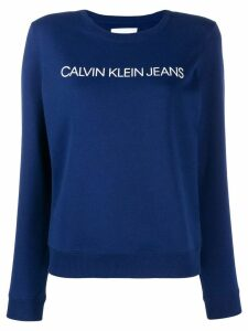 Calvin Klein Jeans logo embroidered sweater - Blue