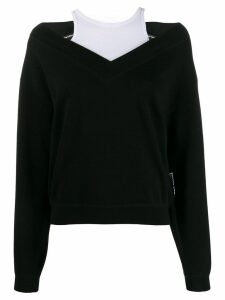 T By Alexander Wang wash + go bi-layer sweater - Black