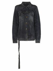 Unravel Project stonewash denim jacket - Black