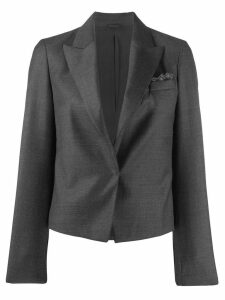 Brunello Cucinelli cropped tailored jacket - Grey