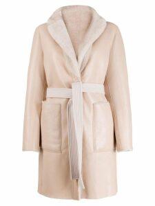 Blancha reversible belted coat - Pink