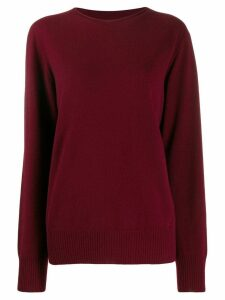 Maison Margiela oversized round neck sweater - Red