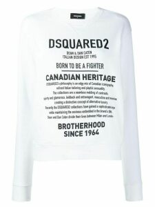 Dsquared2 Canadian heritage print sweatshirt - White