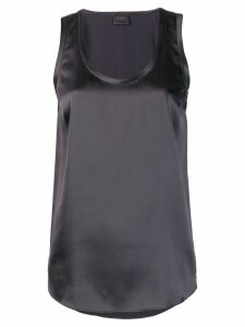 Brunello Cucinelli sleeveless shift blouse - Grey