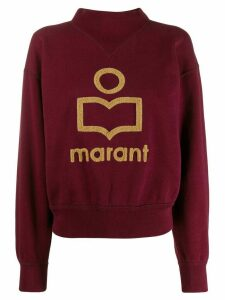 Isabel Marant Étoile Moby textured logo jumper - PURPLE