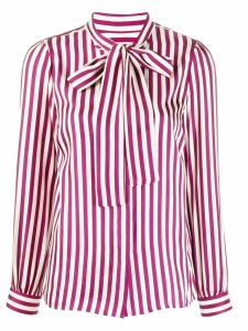 Michael Michael Kors striped satin shirt - Red
