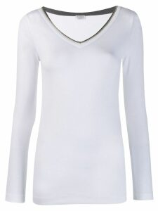 Brunello Cucinelli ribbed T-shirt - White