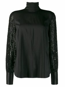 Brunello Cucinelli high neck blouse - Black