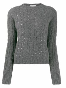 Philosophy Di Lorenzo Serafini embellished cable knit sweater - Grey