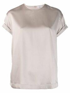 Brunello Cucinelli satin T-shirt - PINK