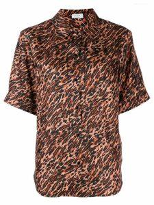 Sandro Paris loose-fit printed shirt - Brown