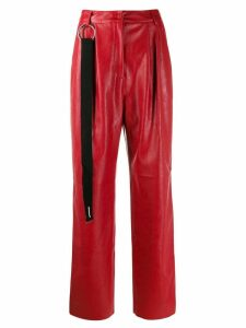 Brognano pleated waist trousers - Red