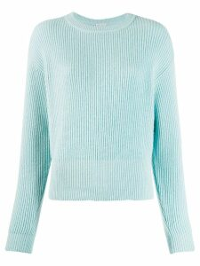 Brunello Cucinelli ribbed knit sweater - Blue