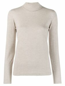Brunello Cucinelli mottled turtleneck jumper - NEUTRALS