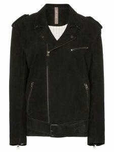 Lot Lthr belted biker jacket - Black
