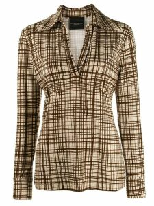 Erika Cavallini checked print shirt - NEUTRALS