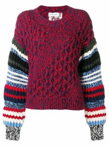 Sonia Rykiel chunky knit jumper - Red