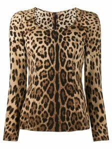 Dolce & Gabbana leopard print blouse - NEUTRALS