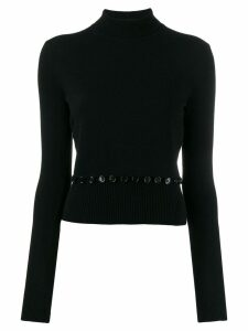 Alexander McQueen knitted polo top - Black
