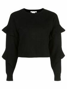 Alice+Olivia Nettie ruffle sleeve jumper - Black