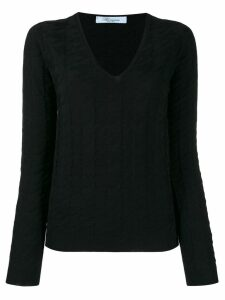 Blumarine knitted sweatshirt - Black