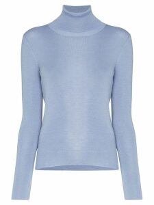 Prada turtleneck knitted jumper - Blue