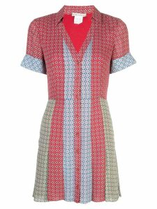Alice+Olivia colour block shirt dress - Red