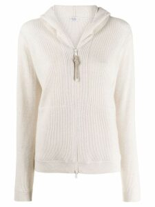 Brunello Cucinelli zip-up cashmere cardigan - Neutrals