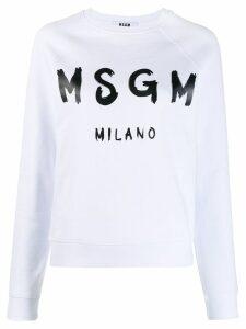 MSGM printed logo sweatshirt - White