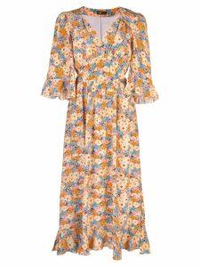 Stine Goya Evelyn Flowers silk dress - Multicolour