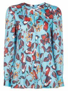 Derek Lam 10 Crosby floral print blouse - Blue