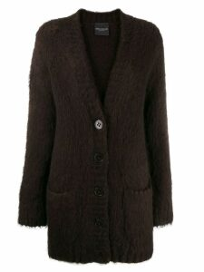 Erika Cavallini long sleeve cardigan - Brown